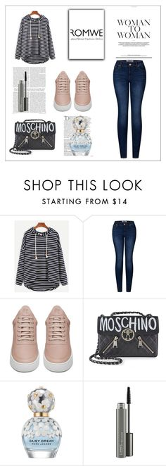 """Romwe contest"" by zina1002 ❤ liked on Polyvore featuring 2LUV, Filling Pieces, Moschino, Balmain, Marc Jacobs and MAC Cosmetics"
