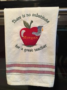 A personal favorite from my Etsy shop https://www.etsy.com/listing/501256389/custom-made-personalized-tea-towel