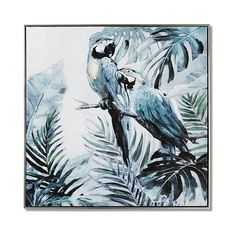Calling all bird lovers! This tropical canvas features remarkable detail with a contemporary play on colour. With a foiled bronze thin capped frame, amazing details, and layers of colour, this wall art will make a statement in your home or office. Contemporary Plays, Home Republic, Mirror Wall Art, Grey Skies, All Birds, Parrots, Custom Furniture, Bedroom Decor, Tropical
