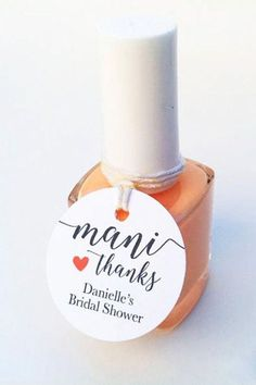 Mani Thanks Nail Polish Bridal Shower Favors - Bri. Mani Thanks Nail Polish Bridal Shower Favors – Bridal Shower Favor Ideas – Bridal Shower Thank You Gifts – Bridal Shower Inspo – Bridal Shower Games – Bridal Shower Activities Bridal Shower Activities, Fun Bridal Shower Games, Bridal Shower Planning, Disney Bridal Showers, Summer Bridal Showers, Tea Party Bridal Shower, Bridal Shower Rustic, Bridal Shower Decorations, Bridal Shower Invitations