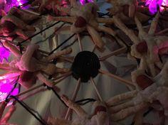 Traktatie cocktailworstje #spinnen #herfst #web