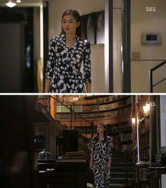 Jun Ji-hyun (Gianna) / Cheon Song-yi fashion   Diane von Furstenberg dress / Amazing Grace by Vintage Hollywood headband
