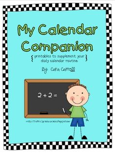 This fun little Calendar Companion contains 23 printables to supplement your daily calendar routine. Printables can be added to your student's math...