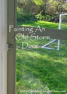 Painting A Storm Door, How To Paint A Storm Door
