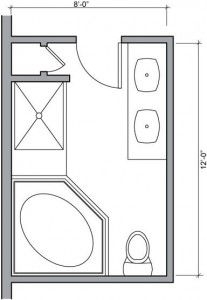 Charmant Small Bathroom Floor Plan Dimensions For Small Space Images