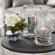 Grey Candles, Casa Loft, Candlesticks, Home Interior Design, Candle Holders, Table Decorations, Simple, Dining Room, King