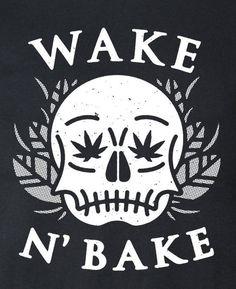 Wake N Bake - MENS SHORT SLEEVE TEE http://amzn.to/2eJqJBW