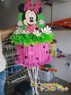 Minnie Mouse Pinata, Mickey Mouse, Eye Stickers, Purple Party, Red Butterfly, Napkin Folding, Paper Flowers, Cake Toppers, Things To Sell