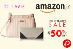 Amazon #EndOfSeasonSale is offering Upto 50% off on Lavie #Bags, #Wallets and #Luggage.   http://www.paisebachaoindia.com/eoss-sale-amazon/
