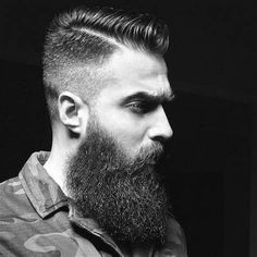 Comb Over Fade Haircut For Men - 40 Masculine Hairstyles Long Beard Styles, Best Beard Styles, Hair And Beard Styles, Barba Grande, Mens Hairstyles With Beard, Haircuts For Men, Medium Hairstyles, Modern Haircuts, Comb Over Fade Haircut