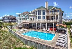 """Nautilus""  HL-11 Oceanfront, Hatteras, NC Be sure to visit the property page for all the luxurious amenities this home provides!"