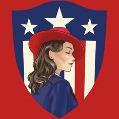 Agent Carter Shield    Peggy Carter    by John McGuiness    WeLoveFine Agent Carter T-Shirt Contest    #fanart