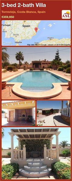 3-bed 2-bath Villa in Torrevieja, Costa Blanca, Spain ►€359,950 #PropertyForSaleInSpain