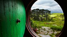 In The Hobbit and The Lord of the Rings trilogy, most adventures begin in the fictional village of Hobbiton. For the first Lord of the Rings films, set builders spent nine months recreating the villag near the small town of Matamata on New Zealand's northern island. They since returned to spend two and a half years expanding it for Jackson's new film, The Hobbit.