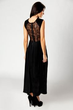Lace Back Maxi Dress
