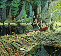 Beaver Dam by Tom Thomson. Tom Thomson, influential Canadian artist of the early century. He directly influenced the Group of Seven, although he tragically died before that group was formed. Emily Carr, Group Of Seven Artists, Group Of Seven Paintings, Canadian Painters, Canadian Artists, Landscape Art, Landscape Paintings, Small Paintings, Tela