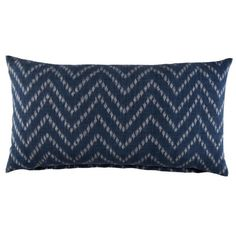 John Robshaw Indigo Herringbone Pillow