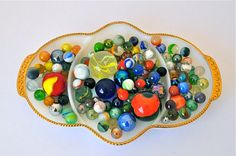 A vibrant collection of vintage marbles. This is for my Dad, Johnny! Nice, right!?! :)