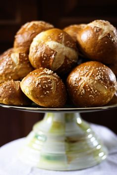 Soft Pretzel Sandwich Rolls from Foodie with Family