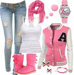 a good outfit to wear and it is also supporting breast cancer.