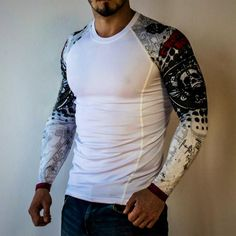 2eb948ab1ae Men s Long Sleeve Compression T-Shirt  Rash Guard for Workouts. See more.  Men s Compression Rash Guard Shirt Slim-Fit Mens Running Tights