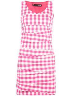 LOVE MOSCHINO gingham check mini dress. #lovemoschino #cloth #드레스