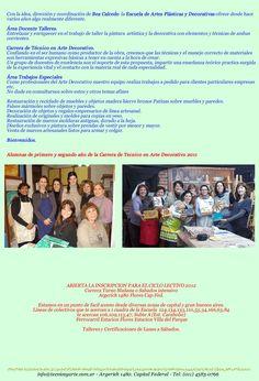 Cursos /Seminarios  Carrera de Tecnico en Arte Decorativo