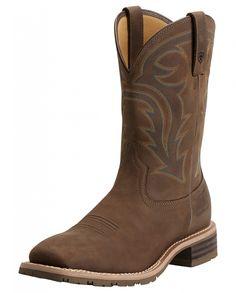Ariat® Men's Hybrid Rancher H20 Oily Dist Brown Work Boots