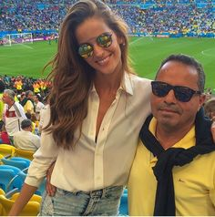 c48b5884160 Top Model Iza Goulart wearing her Met-ro Blue frames w  Gold Lens by Spektre  during this summer s World Cup!