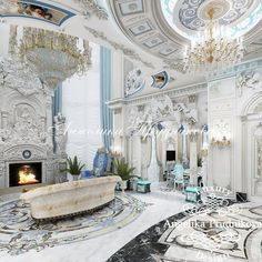 Villa Interior Design in Dubai, Palace in Dubai, Photo 16 Luxury Home Decor, Luxury Interior, Home Interior Design, Villa, Palaces, Luxury Homes Dream Houses, Le Palais, Interior Exterior, Interior Architecture