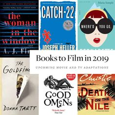 2019 has some really promising book adaptations being made into movies and tv series, great news for book lovers and film alike. Best Book Club Books, Book Club Reads, Literary Fiction, Historical Fiction, Book Review Blogs, Book Recommendations, Book Lists, Reading Lists, Reading Goals