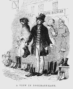 Bethnal Green was noted for boot and shoe making.