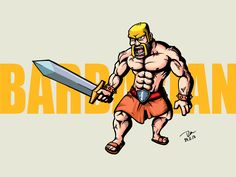 Barbarian Fan Art (Clash of Clan) Nov24,2013