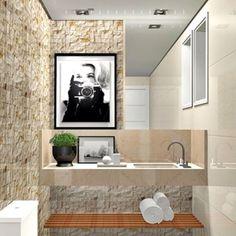 """""""Lavabo Residência Bom Retiro - Betim/MG  Cliente: Francieli Moreira  Arquiteta: Fernannda Almeida  #archlovers #arquitetura #decoração #designinteriores…"""" - http://www.fernanndaarquiteta.com/"""