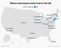 A surprising number of NASA Astronauts come from Ohio, the 'birthplace of aviation.' Here are all the US cities that produce the most astronauts.