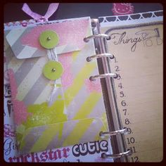 Pockets in planner/diy dividers from patterned double sided paper