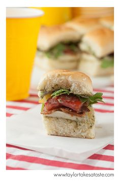 BLT Pesto Sliders