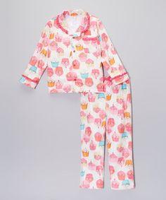 Love this Pink Cupcake Pajama Set - Toddler on #zulily! #zulilyfinds