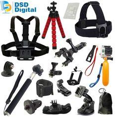 Go pro 5 selfie stick camera case bag for gopro hero 5 accessories xiaomi yi 4k 2 sjcam sj5000 sj4000 m20 eken h9  06E