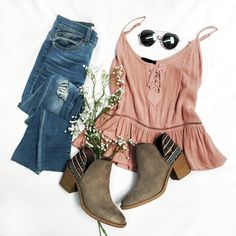 I don't usually wear pink much anymore but I love this blush shade! Love the booties too!