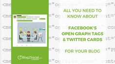 To make the most of your blog content on social media, setting the right Open Graph and Twitter Card Tags is essential! They are your best bet to display your blog posts with intriguing images, titles and descriptions and to lure new readers and potential customers to your website. This article tells you all you need to know about Facebook Open Graph Tags and Twitter Cards for your Blog.   #Facebook #OpenGraphTags #SocialMetaTags #Twitter #TwitterCards