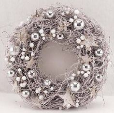 silver christmas wreath - Google Search