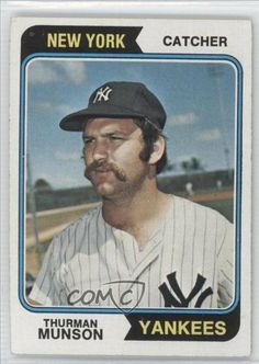 Thurman Munson COMC REVIEWED Good to VG-EX New York Yankees (Baseball Card) 1974 Topps #340 by Topps. $3.25. 1974 Topps #340 - Thurman Munson COMC REVIEWED Good to VG-EX