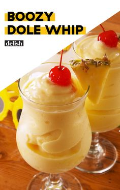 This Boozy Dole Whip is NOT for the kids Smoothies, Smoothie Recipes, Pina Colada, Dole Pineapple Whip, Pineapple Margarita, Pineapple Juice, Pineapple Alcohol Drinks, Slushy Alcohol Drinks, Pineapple Cobbler