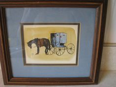 Roger+Haas+Amish+Horse+and+Buggy+Signed+Original+by+heckamom