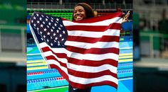 (CNN) — When Simone Manuel touched the pool wall at the end of her swimming…