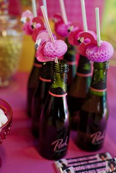 Flamingo Straws for a fun summer / tropical bridal shower or bachelorette party! Pink Flamingo Party, Flamingo Birthday, Pink Flamingos, Eighties Party, Country Themed Parties, 50th Birthday Party, Birthday Ideas, Party Time, Party Ideas
