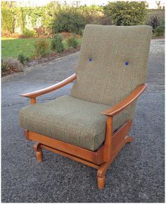 Rock around the Christmas tree  This 1960's vintage rocking chair is just back from the upholsterers in time for this weekend's Block B Flea http://dublinflea.blogspot.ie/  It has been re-upholstered in a gorgeous vintage check tweed, and would make a stylish stocking filler for someone special in your life.  POA retrorumage@gmail.com