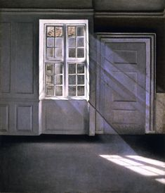 Sunbeams (also known as Sunshine. Dust Motes Dancing in the Sunbeams) Vilhelm Hammershøi (1900)
