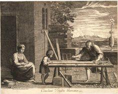 Annibale Carraci (1560-1609) – Joseph working with Jesus